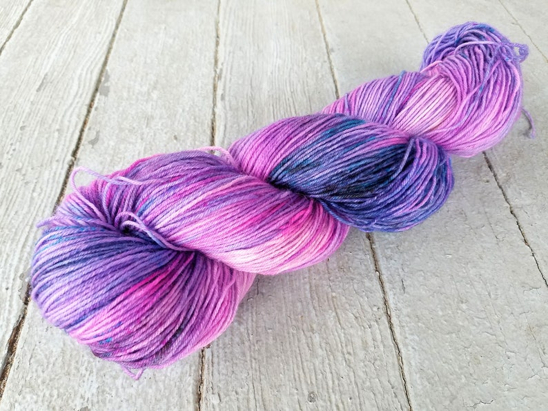 Hand Dyed Sock Yarn Superwash Wool   Merino  BFL  Nylon  image 0