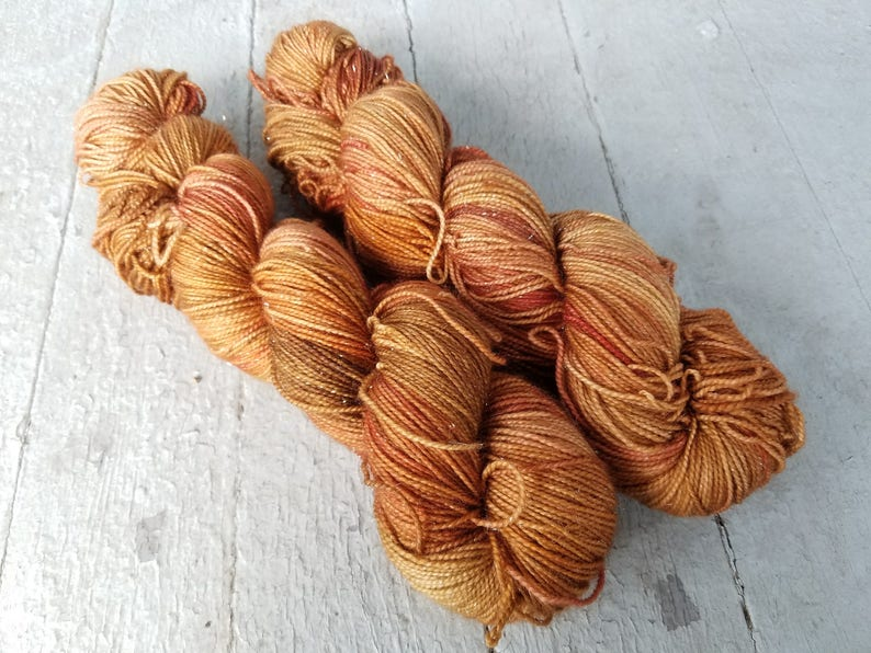 Hand Dyed Sock Yarn Superwash Wool  Merino  BFL  Nylon  image 0