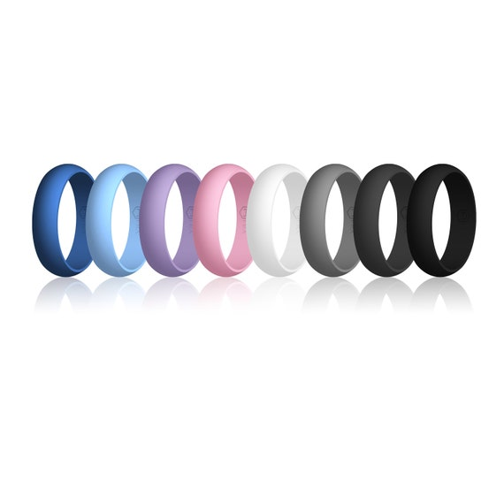 Hypoallergenic FREE SHIPPING Flexible Enso Womens Stackable Silicone Rings