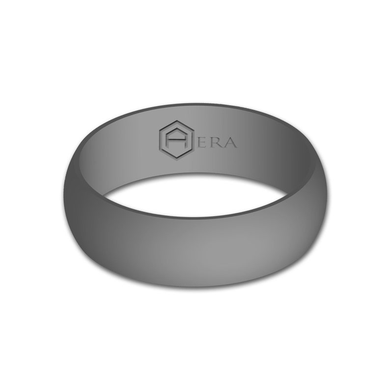 Best Silicone Wedding Ring.Aera Rings Gift For Him Gray Silicone Wedding Ring Band Best Flexfit Hypoallergenic Rubber Modern Athletic Mens Activewear Jewelry