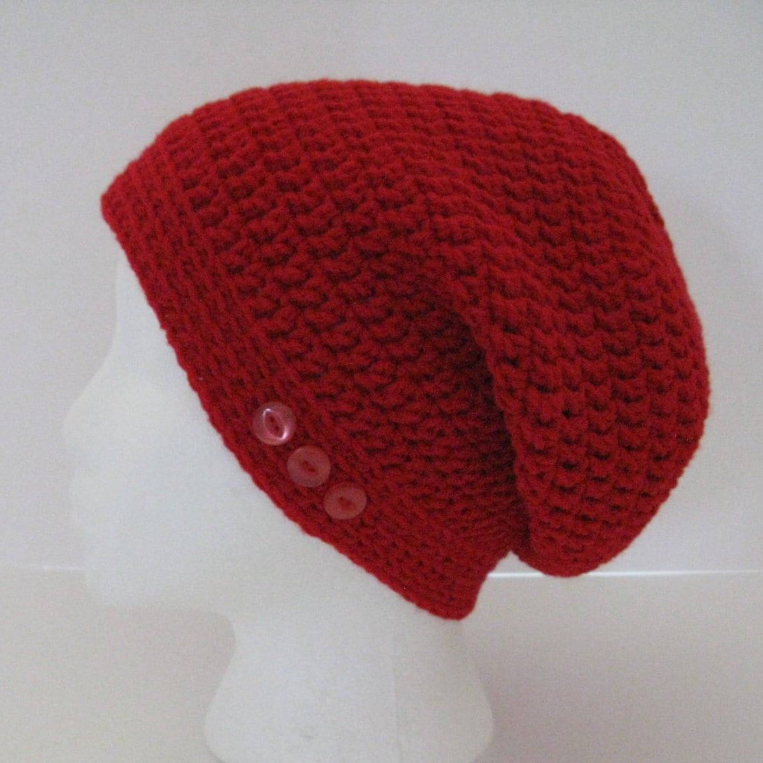 22cd5a30c Womens Crochet Slouchy Beanie Hat, Red Slouchy Hat, Womens Slouchy Hat,  Crochet Slouchy Hat, Red Hat, Slouchy Beanie, Gift for Women