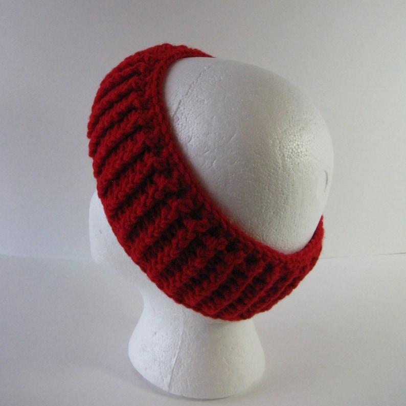 Womens Crochet Headband Crochet Head Wrap Red Head Wrap Red Headband Red Ear Warmer Womens Crochet Head Wrap Crochet Ear Warmer