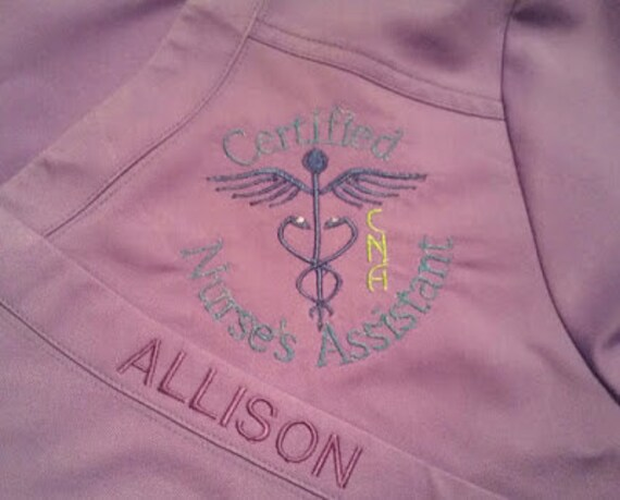 Certified Nursing Assistant Cna Mail: Certified Nursing Assistant CNA Hospital Scrub LOGO And