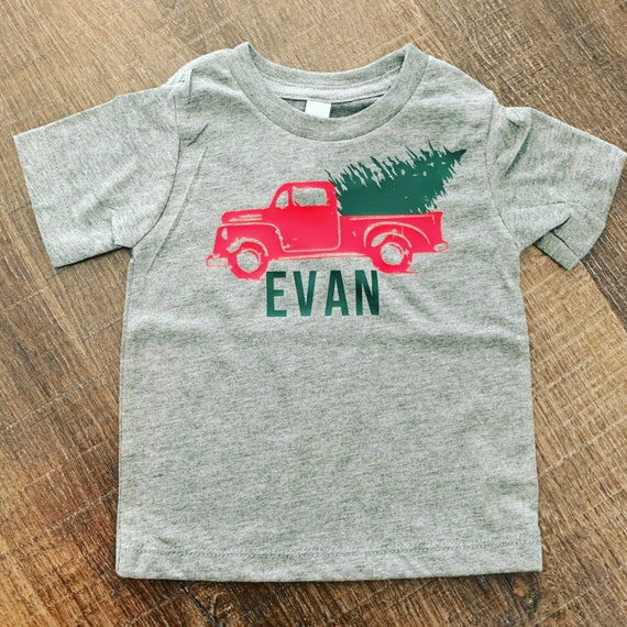 Personalized Christmas Truck Onesie, Christmas Onesie, baby gift, personalized Christmas truck shirt, Christmas outift,