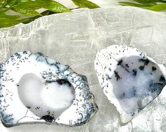 dendrite opal Fancy slice Dendritic opal slice Natural Dendritic opal slice 80 Cts dendrite Opal Gemstone. 59X40 mm