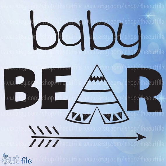 Baby Bear htv design, svg dxf jpeg eps instant download for cameo or  cricut, bodysuit design, bear family