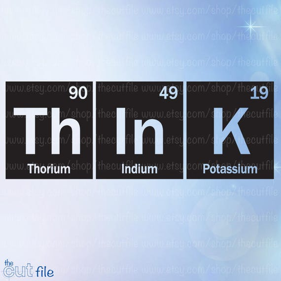 Periodic Table Svg Think Cutting File Vinyl Vector Table Of Etsy
