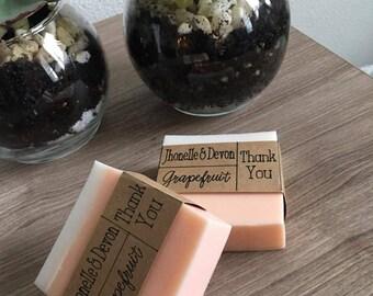 Bridal shower favors Wedding favors Goat milk soap Grapefruit scented
