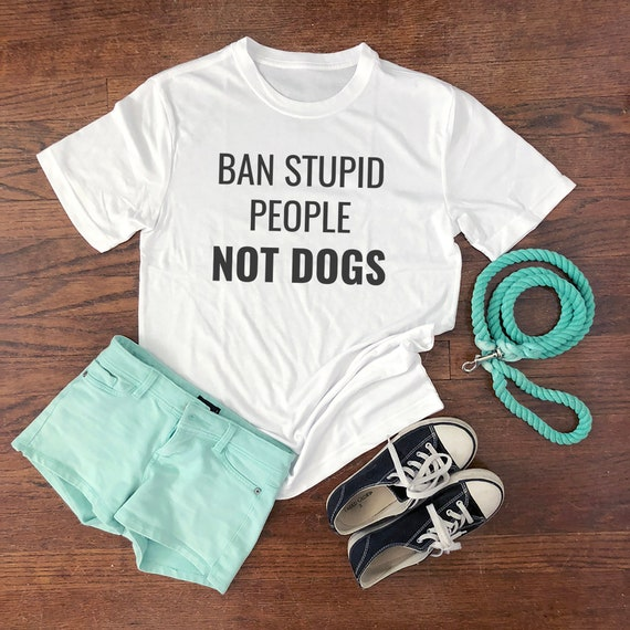 Ban Stupid People Not Dogs gift tee top Tank Top Vest