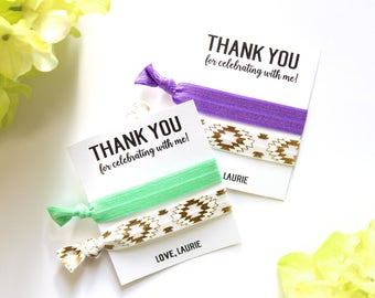 Thank You for Celebrating With Me Personalized Hair Tie Favors | Custom Thank You Favor | Shower Favor | Party Favor