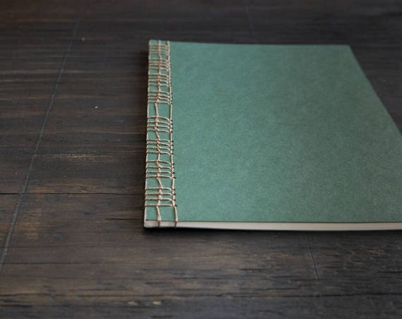 Large Handmade Softcover Notebook with Japanese Stab Binding