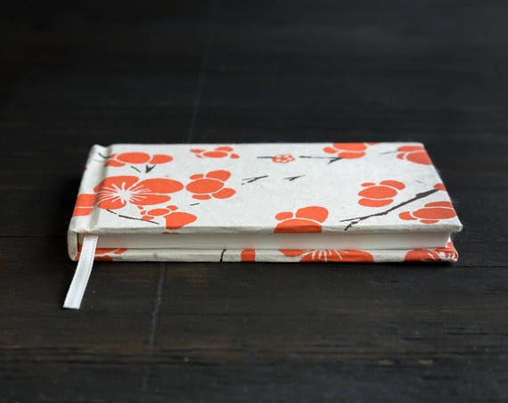 Small Handcrafted Hardcover Notebook with Lokta Paper Cover
