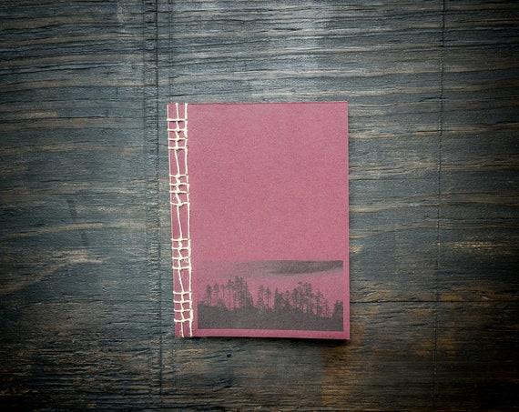 Handmade Burgundy Notebook with Japanese Stab Binding
