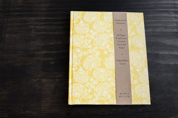 Large Handcrafted Hardcover Notebook