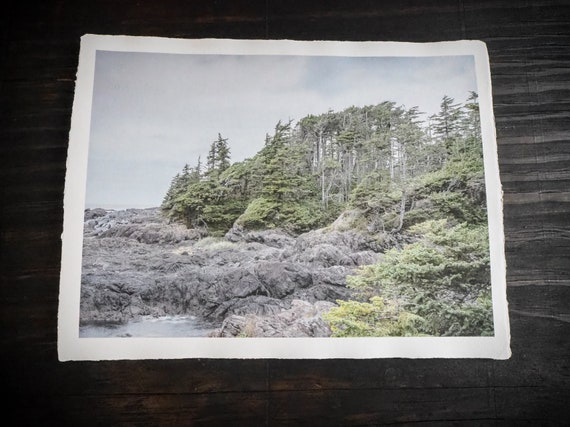 Original Art Print  ||  'Wind Swept' ||  Handmade Recycled Paper
