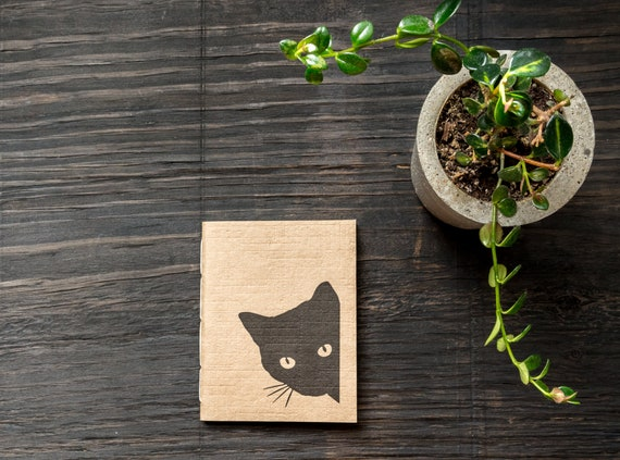 Small Handcrafted Softcover Notebook  ||  Handmade Recycled Paper Cover