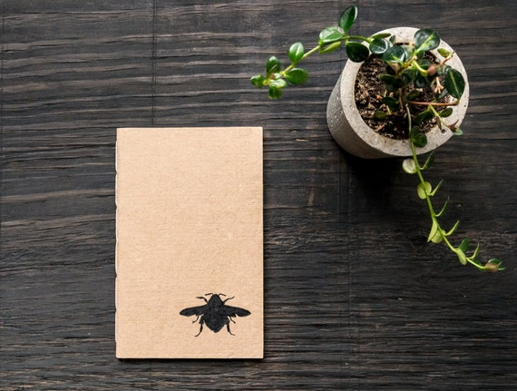 Handcrafted Softcover Notebook with Handmade Recycled Paper Cover