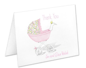 Personalized Baby Girl Notecards & Stationery Sets | The Enchanted Envelope