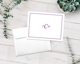 Personalized Note Cards, Stationery Set, Monogrammed Notecards, Monogram Stationery, Wedding Gift, Bridal Shower Gift , Custom Notecards