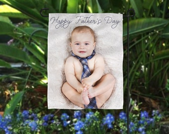 Personalized Father's Day Gift, Photo Flag, Grandpa Photo Gift, Personalized Flag, Poppy Photo Gift, Father's Day Photo Gift, Gift From Kid