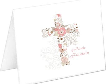 Religious Note Cards, Religious Stationery Set, Cross Notecards, Cross Stationary Set, Christian Note Cards, Nun, Minister Gift, Priest