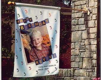 Birthday Flag, Kids Flag, Kids Birthday Flag, Photo Flag, Birthday Photo Flag, Kids Photo Flag, Weather Resistant Flag, Flag For Pole