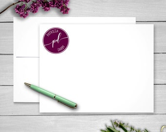 Personalized Stationery Set, Personalized Note Cards, Thank You Cards, Stationery Set, Stationary Set, Custom Cards, Flat Note Cards