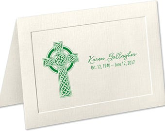 Personalized Sympathy Acknowledgement Cards | Celtic Cross | Funeral Thank You Cards | Irish Funeral Thank You Cards | Celtic Cross Funeral