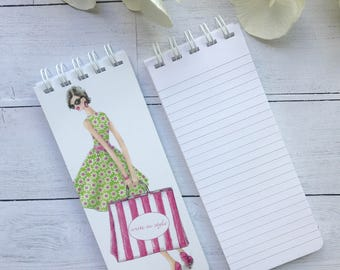 Set of 3 Notepads, To-Do Lists,  Custom Note Pads, Grocery List Notepads, Shopping Lover Gift, Personalized Note Pads