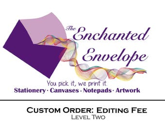 Editing Fee, Editing Charge, Design Work, Resizing Charge, Resizing Fee, Custom Editing, Design Work Fee, Print Ready Fee
