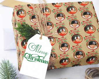 Photo Christmas Wrapping Paper, Photo Wrapping Paper, Kraft Wrapping Paper Sheets, Photo Wrapping Paper, Custom Wrapping Paper, Ho Ho Ho