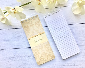 Set of 3 Personalized Note Pads, Damask, Grocery List, Stocking Stuffer, Custom Note Pads, Teacher Gift, Co-Worker Gift, To-do List, Office