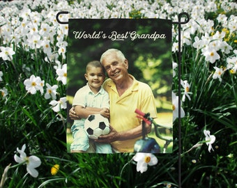 Personalized Father's Day Gift, Photo Flag, Grandpa Photo Gift, Personalized Flag, Poppy Photo Gift, Father's Day Photo Gift, Photo Gift