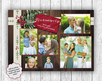 Photo Christmas Cards, Printed Christmas Cards, Multiple Photo Card, It's A Wonderful Life, Photo Wrapping Paper, Holly Christmas Cards