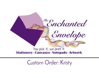 CUSTOM ORDER: Kristy, Logo Note Cards, Custom Stationery, Business Stationary, Branded Notecards