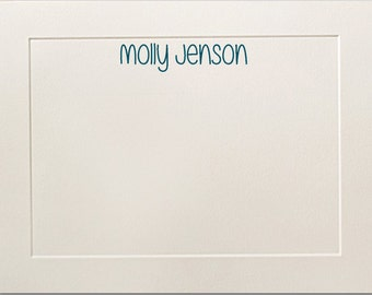 Embossed Panel Personalized Flat Note Cards, Stationery Set, Traditional, Teacher Gift, Thank You Cards, Business Notecards, Stationary Set