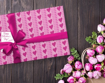 Wrapping Paper, Branded Wrapping Paper, Wrapping Paper With Logo, Custom Wrapping Paper, Valentine's Day Wrapping Paper, Holiday Wrapping