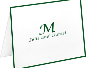 Personalized Note Cards, Stationery Set, Couple's Names, Birthday, Wedding Gift, Bridal Shower Gift, Stationary Set, Monogram, Notecards
