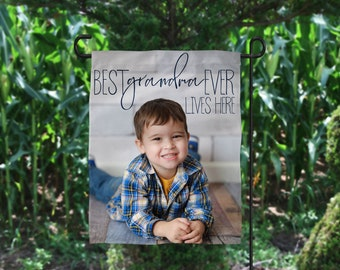 Personalized Mother's Day Gift, Mother's Day Flag, Nana Photo Gift, Personalized Flag, Grandmother Photo Gift, Mother's Day Photo Gift