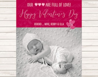 Kids Photo Valentine's Day cards, Photo Valentines Cards, Valentine's Photo Cards, Kids Valentine's, Baby Valentine's Day Cards, Valentine's