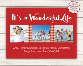 Photo Christmas Cards, Photo Wrapping Paper, Printed Christmas Cards, It's a Wonderful Life, It's a Wonderful Life Christmas Card