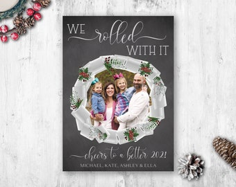 Toilet Paper Christmas Cards, Photo Christmas Cards, Quaratine Christmas Cards, Printed Photo Christmas Cards, Pandemic Holiday Cards