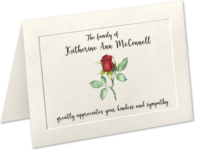 sympathy acknowledgement cards funeral thank you cards custom funeral cards personalized funeral thank you cards embossed panel funeral