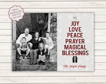 Buffalo Plaid Christmas Cards, Photo Christmas Cards, Printed Christmas Cards, Photo Wrapping Paper, Buffalo Plaid Wrapping Paper