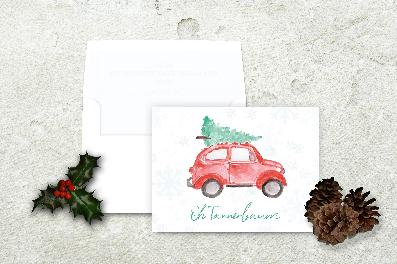 Oh Tannenbaum Oh.Christmas Tree On Car Christmas Card Oh Tannenbaum Oh