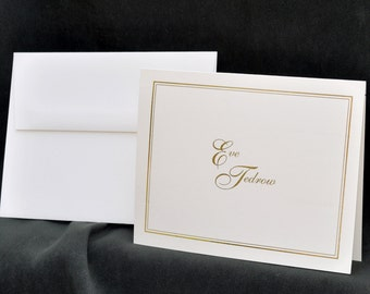 Gold Foil Printed Personalized Stationery Set & Note Cards | The Enchanted Envelope