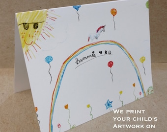 Personalized Kids Stationery Set - Children's Note Cards   The Enchanted Envelope