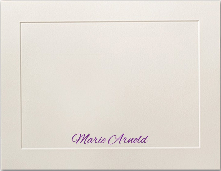 embossed panel personalized flat note cards personalized stationery premium paper thank you cards personalized notecards stationary set - Personalized Flat Note Cards