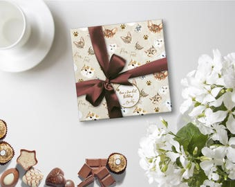 Cat Wrapping Paper, Kitty Wrapping Paper, Cat Lover Gift, Crazy Cat Lady, Cats Wrapping Paper, Purr-fect Gift, Kitty Lover Present