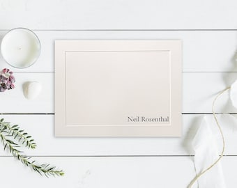 Personalized Stationery Set, Flat Note Cards, Embossed Panel Note Cards, Thank You Cards, Personalized Notecards, Personalized Stationary